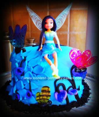 Homemade Silvermist (Tinkerbell) Cake