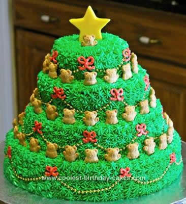 Homemade Singing Christmas Tree Cake