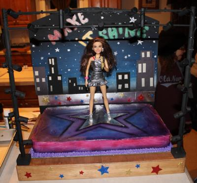 Homemade Singing Victorious Doll Cake
