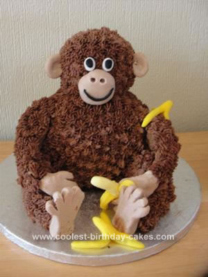 Marvelous Coolest Sitting Monkey Birthday Cake Funny Birthday Cards Online Alyptdamsfinfo