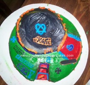 Homemade Skate Park Birthday Cake