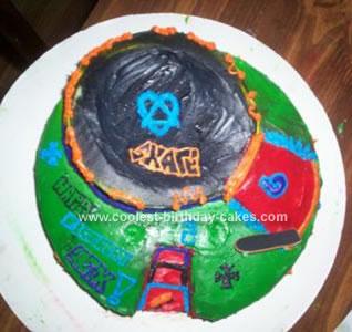 Homemade Skate Park Birthday Cake