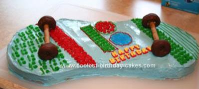 Homemade Skateboard Birthday Cake