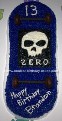Homemade Skateboard Birthday Cake