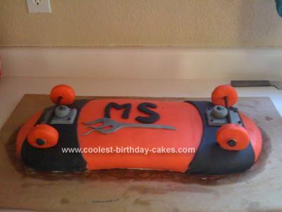 Homemade Skateboard Cake