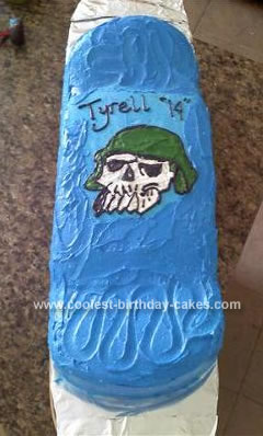 Homemade Skateboard Cake