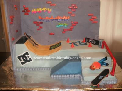 Homemade Skatepark Cake