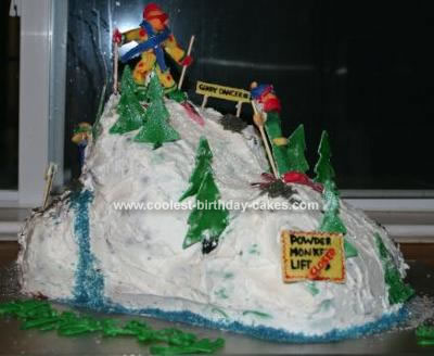 Homemade Skiing Cake