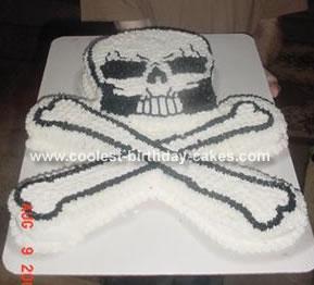 Skull and Cross Bones Cake