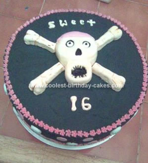 Homemade Skull And Crossbone Cake