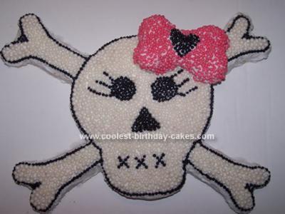 Homemade Skull and Crossbones Cake
