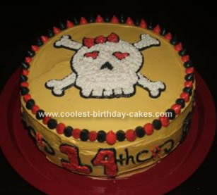Homemade Skull Birthday Cake