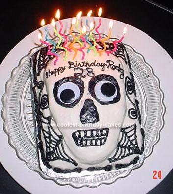 Homemade Skull Birthday Cake