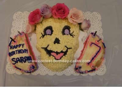 Homemade  Skull Bride Cake Design