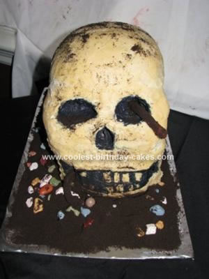 Homemade Skull Cake