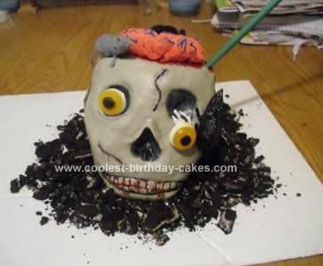 Homemade Skull Cake