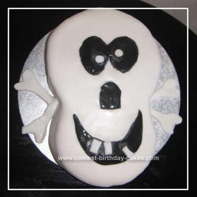 Homemade Skull & Crossbones Birthday Cake