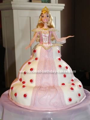 Homemade Sleeping Beauty Barbie Cake