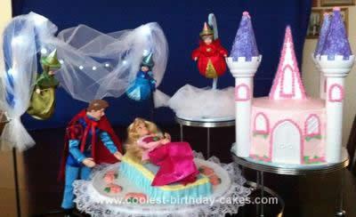 Fabulous Cool Homemade Sleeping Beauty Birthday Cake Personalised Birthday Cards Paralily Jamesorg