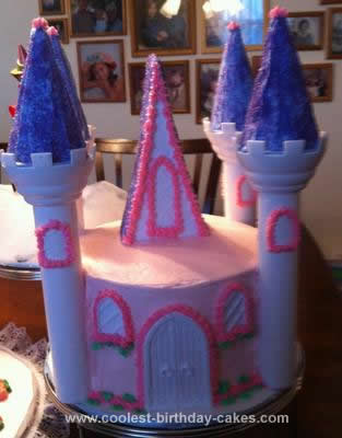 Homemade Sleeping Beauty Birthday Cake