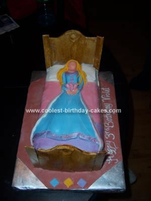 Surprising Coolest Sleeping Beauty Cake Personalised Birthday Cards Paralily Jamesorg