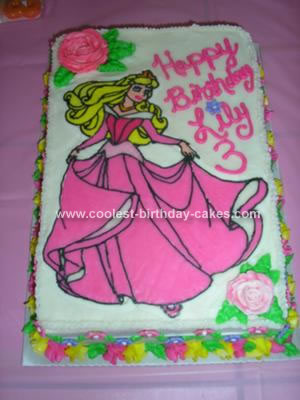 Homemade Sleeping Beauty Cake