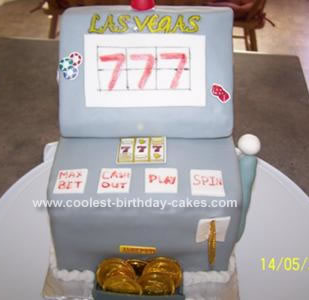 Homemade Slot Machine Birthday Cake