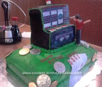 Homemade Slot Machine Cake