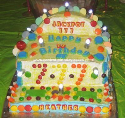 Homemade Slot Machine Cake