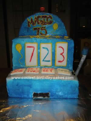Homemade Slot Machine Cake Idea