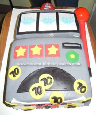 Homemade Slot Machine Triple Diamond Birthday Cake