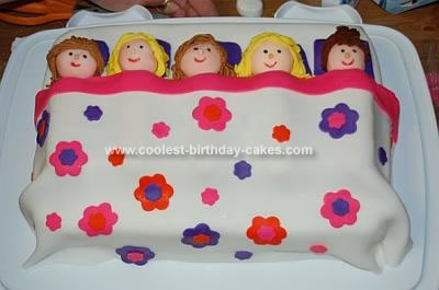 Homemade Slumber Party Birthday Cake