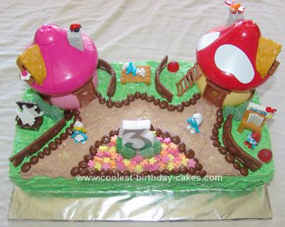 Homemade Smurf Cake