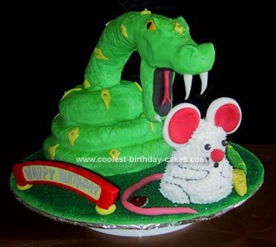 Snake Eating Mouse Cake