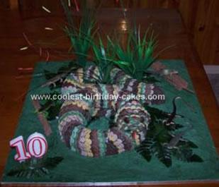 Homemade Snake In The Grass Cake