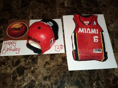 Homemade Snap Back Hat and Jersey Cake