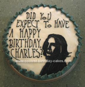Homemade Snape Birthday Cake