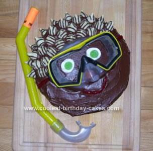 Homemade Snorkeler Cake