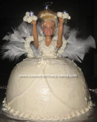 Homemade Snow Angel Cake