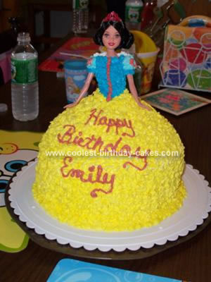 Homemade Snow White Birthday Cake