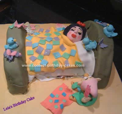 Sensational Cool Homemade Sleeping Snow White Birthday Cake Funny Birthday Cards Online Alyptdamsfinfo