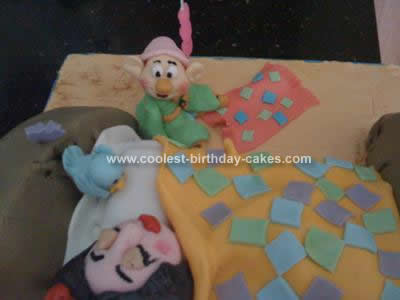 Homemade Snow White Birthday Cake