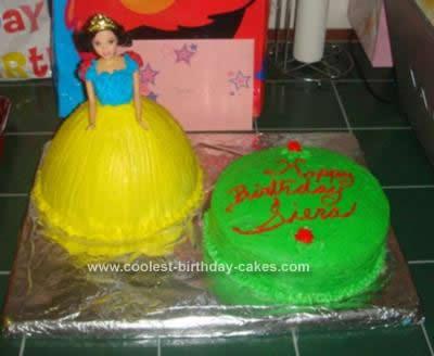 Homemade Snow White Birthday Cake Design