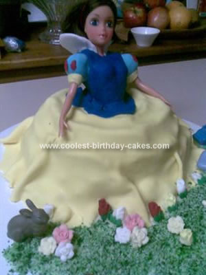 Homemade Snow White Cake