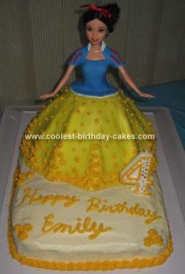 Homemade Snow White Cake