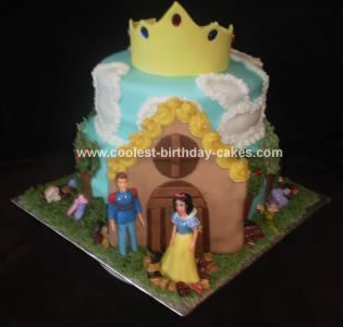 Homemade Snow White Cottage Cake