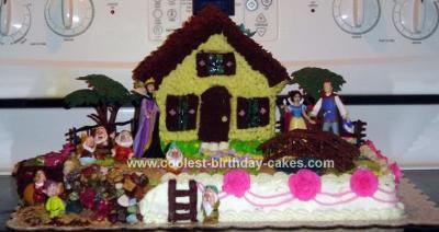 Homemade Snow White Scene Birthday Cake