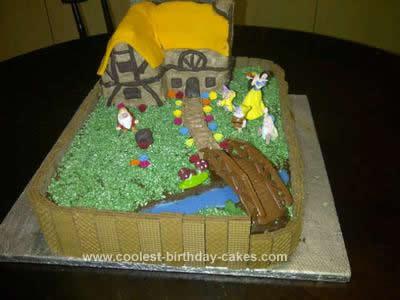 Homemade Snow White Themed Cake