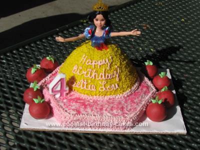 Homemade Snow White with Poison Apple's Birthday Cake