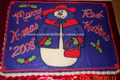 Red Hat Society Christmas Cake